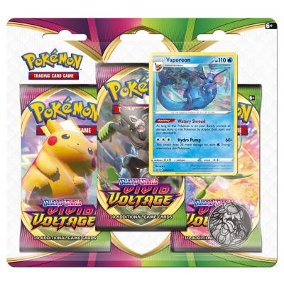 Foto van TCG Pokémon Sword & Shield Vivid Voltage Booster Packs - Vaporeon POKEMON