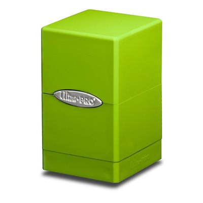 TCG Deckbox Satin Tower Lime Green DECKBOX