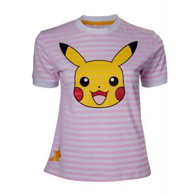 Pokemon - Pikachu Striped Woman's T-Shirt - S