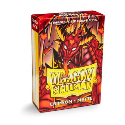 TCG Sleeves Matte Dragon Shield - Crimson (Japanese Size) SLEEVES