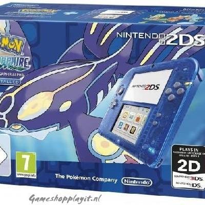 Foto van Console 2Ds Pokemon Alpha Sapphire Edition (Game Pre-Installed) 3DS