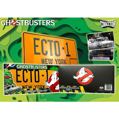 Ghostbusters: Ecto-1 1984 Licence Plate Replica MERCHANDISE