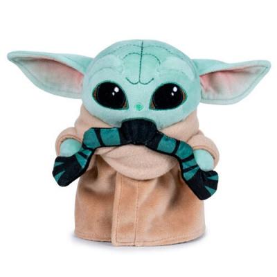 Foto van Star Wars: The Mandalorian - Baby Yoda with Frog Pluche 18cm PLUCHE