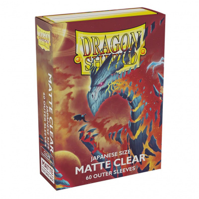TCG Sleeves Matte Outer Dragon Shield - Clear (Japanese Size) SLEEVES