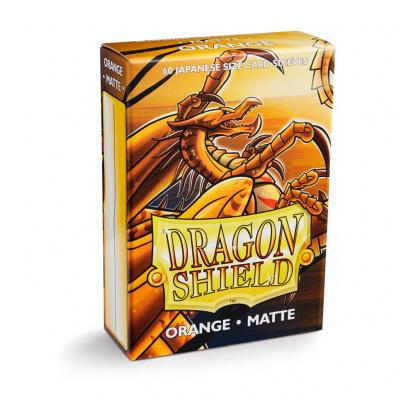 TCG Sleeves Matte Dragon Shield - Orange (Japanese Size) SLEEVES