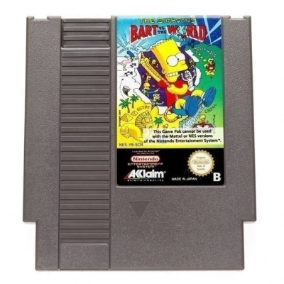 Foto van The Simpsons Bart vs. the World (Cartridge Only) NES