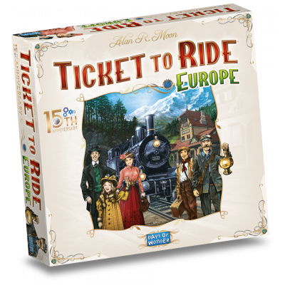 Foto van Ticket To Ride Europe 15th Anniversary NL BORDSPELLEN