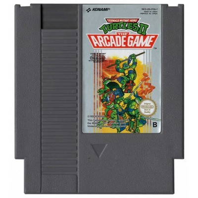 Foto van Teenage Mutant Hero Turtles II (Losse Cassette) NES