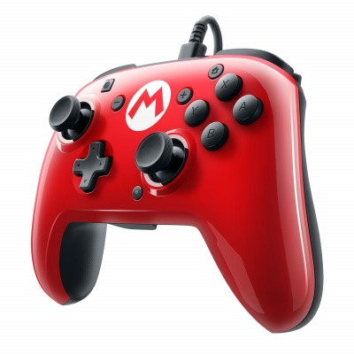 Foto van Faceoff Deluxe Wired Pro Controller Super Mario Edition SWITCH