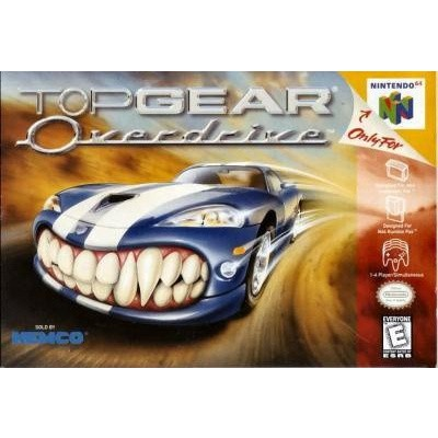 Foto van Top Gear Overdrive (Losse Cassette) N64