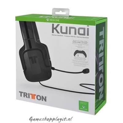 Foto van Tritton Kunai 3.5Mm Stereo Headset (Zwart) XBOX ONE