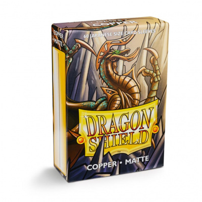 TCG Sleeves Matte Dragon Shield - Copper (Japanese Size) SLEEVES