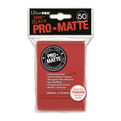 Foto van TCG Sleeves Pro-Matte Ultra Pro - Red (Standard Size) SLEEVES