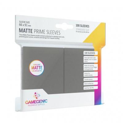 TCG Matte Prime Sleeves 66 x 91 mm - Dark Grey (Standard Size/100 Stuks) SLEEVES