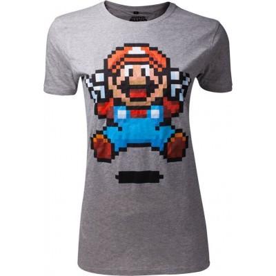 Nintendo - Super Mario Jump Pixel Art Woman's T-Shirt - L
