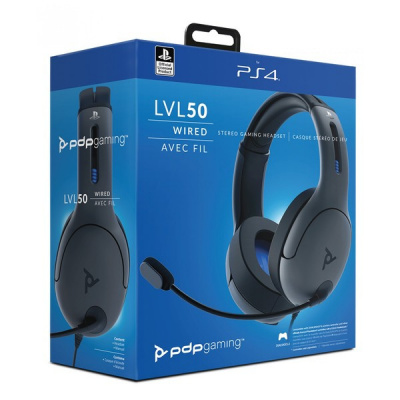 Foto van PDP Lvl 50 Wired Headset - Grey PS4