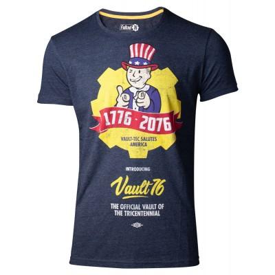 Fallout 76 - Vault 76 Poster Men's T-Shirt (L) MERCHANDISE