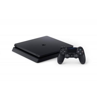 PlayStation 4, Console (Black) + 500GB Slim + Dualshock 4 Controller PS4
