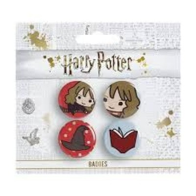Harry Potter: 4 Assorted Pin Badge Set