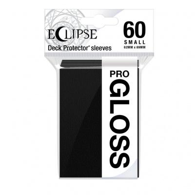 Foto van TCG Sleeves Eclipse Gloss - Jet Black (60 Sleeves) (Small Size) SLEEVES