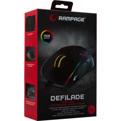 Foto van Rampage Defilade SMX-R111 Gaming Mouse (Black) PC