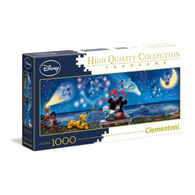 Disney Mickey en Minnie Panorama Puzzle 1000pc PUZZEL