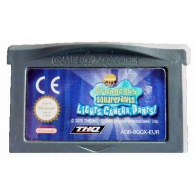 Foto van Spongebob Squarepants Lights, Camera, Pants! GBA LOSSE GAME