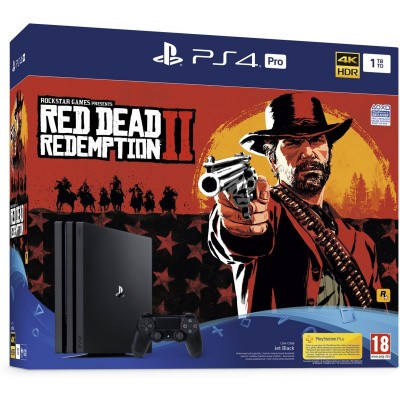 Console 1Tb Pro + Red Dead Redemption 2 PS4