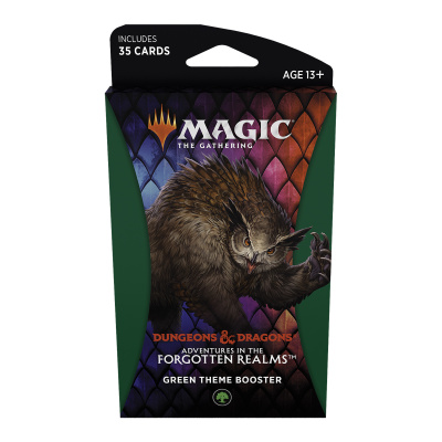Foto van TCG Magic The Gathering D&D Forgotten Realms Green Theme Booster MAGIC THE GATHERING