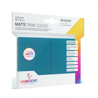 Foto van TCG Matte Prime Sleeves 66 x 91 mm - Blue (Standard Size/100 Stuks) SLEEVES