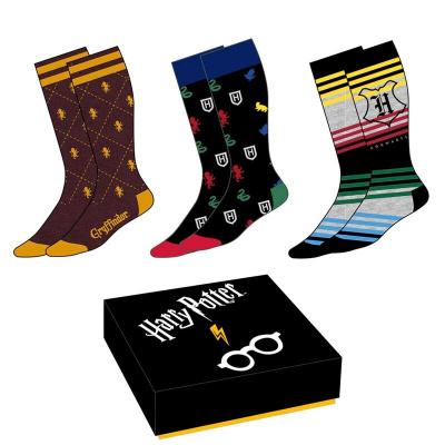 Harry Potter - 3 Paar Vrouwen Sokken Crests maat 35-39 MERCHANDISE