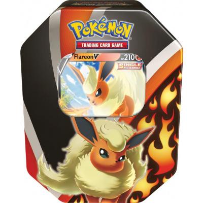 Foto van TCG Pokémon Fall Tin 2021 Eevee Evolution - Flareon V POKEMON