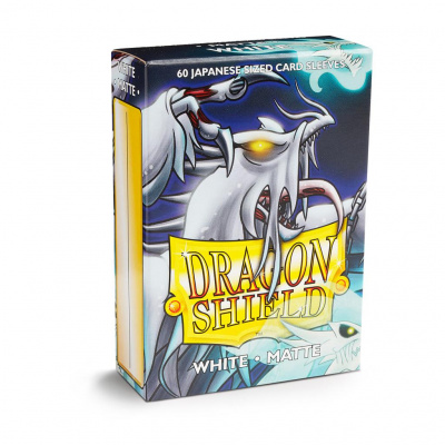 TCG Sleeves - Dragon Shield - White Matte Japanese Size SLEEVES