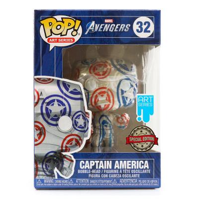 Pop! Art Series: Marvel Avengers - Captain America Patriotic Age + Case FUNKO