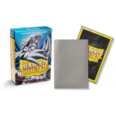 TCG Sleeves - Dragon Shield - Silver Matte Japanese Size