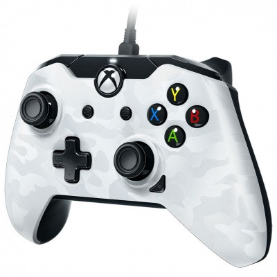Foto van Pdp Wired Controller Camouflage Ghost White XBOX ONE