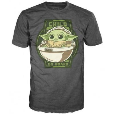 Foto van Star Wars: The Mandalorian - The Child on Board T-Shirt - L