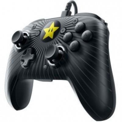 Foto van Faceoff Wired Pro Controller Super Mario Star Edition (Zwart) SWITCH