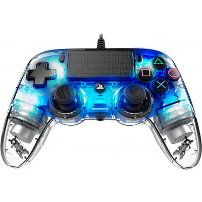 Foto van Nacon Wired illuminated Compact Controller (LED Blue) PS4