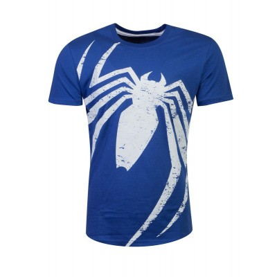 Spiderman - Acid Wash Spider T-shirt - L MERCHANDISE