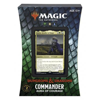 Foto van TCG Magic The Gathering D&D Forgotten Realms Commander Deck - Aura of Courage MAGIC THE GATHERING