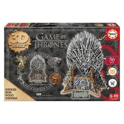 Foto van Game Of Thrones - Monument Iron Throne 3D Puzzle 56pc PUZZLE