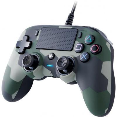 Foto van Nacon Wired Compact Controller (Green Camo) PS4