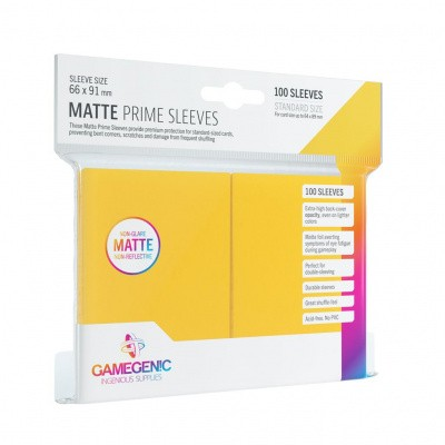 TCG Matte Prime Sleeves 66 x 91 mm - Yellow (Standard Size/100 Stuks) SLEEVES