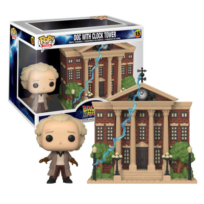 Pop! Town: Back To The Future - Doc With Clock Tower FUNKO