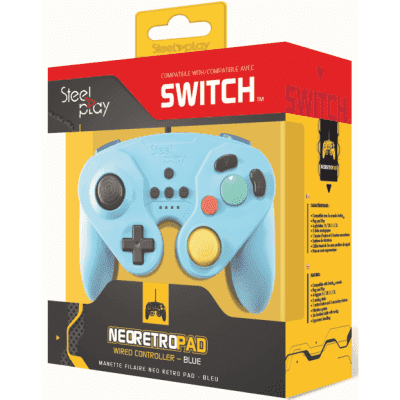 Foto van Steelplay Neo Retro Pad Wired Controller - Blue SWITCH
