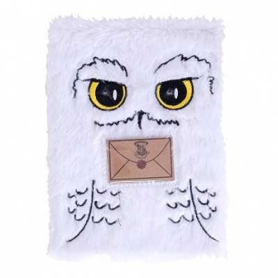 Foto van Harry Potter - Hedwig A5 Pluchen Notebook MERCHANDISE