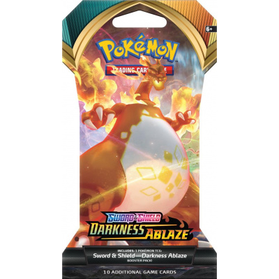 TCG Pokémon Sword & Shield Darkness Ablaze Sleeved Booster Pack POKEMON