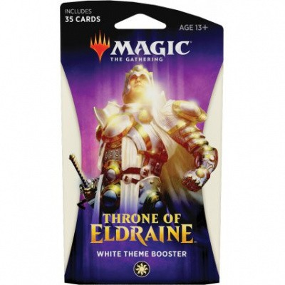 TCG Magic The Gathering White Theme Booster Pack Throne Of Eldraine MAGIC THE GATHERING