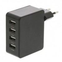 Foto van Lader 4 4.8 A USB Zwart